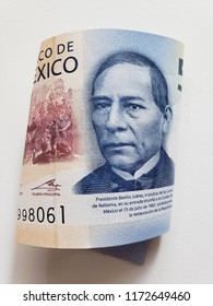 mexican banknote of 500 pesos, background and texture
