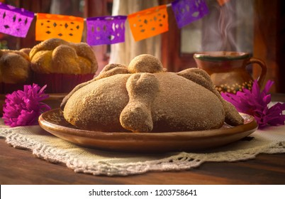 Mexican bread of the dead 2 of november day of deads