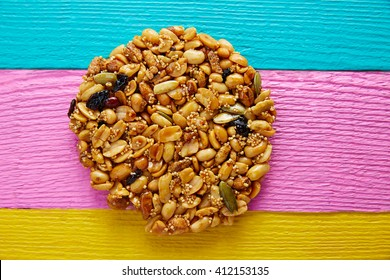 Mexican candy sweet Palanqueta with peanuts crunchy and amaranth seeds