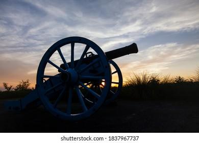Mexican canon at Palo Alto Battlefield, Texas.