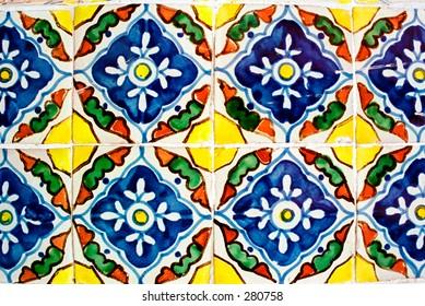 Mexican ceramic tiles.
