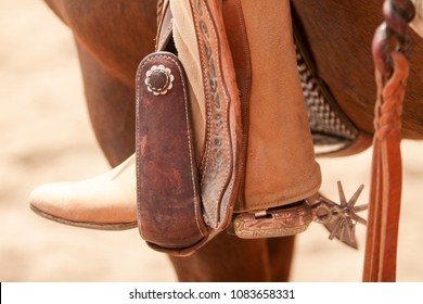 Mexican Charro riding spurs with sharp spikes rowel on authentic charro traditional leather boot