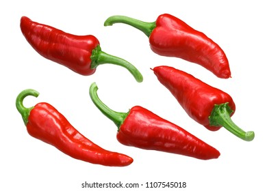Mexican Chimayo chile peppers, ripe whole pods