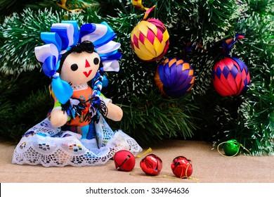 Mexican Christmas (Doll and Christmas Tree)