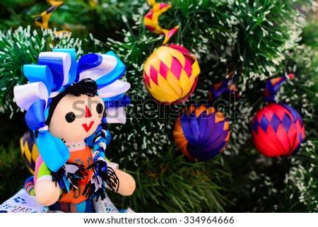 mexican christmas doll christmas tree stock photo edit now