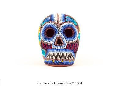 Mexican crafts multicolor skull