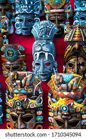 Mexican culture. Souvenirs from the trip. Masks