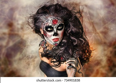 Mexican death make up. Halloween