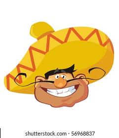 Mexican face.