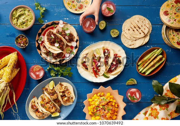 Mexican Feast Served Family Style