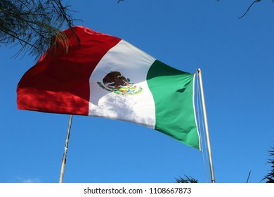 Mexican flag in Cancun