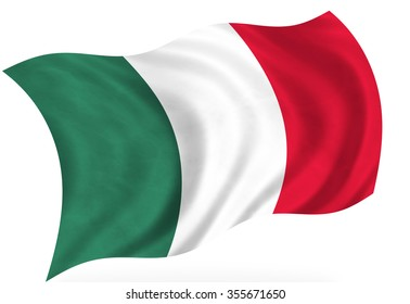 Mexican flag, isolated