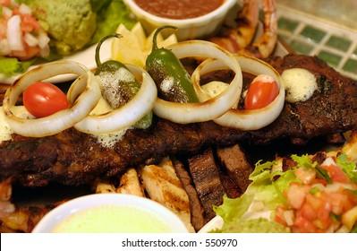 Mexican food, fajitas