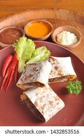 Mexican food quesadilla. Quesadilla or sometimes special cheese quesadillas, Mexican dishes and taco types, consist of tortillas filled with cheese, and sometimes meat, beans, vegetables, and spices
