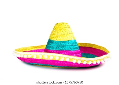 Mexican hat isolated on white background