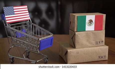 Mexican imports. US - Mexico Trade War. Supplies of products and services from Mexico to United States
