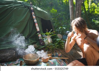 Mexican or Indian Sauna Hut - Stock image