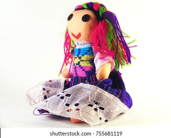 Mexican indigenous fabric doll