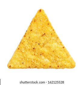 mexican nachos chips, isolated on white background