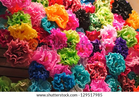 Mexican Paper Flowers Stockfoto Jetzt Bearbeiten 129517985