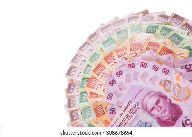 Mexican pesos, bills of 50, 100, 200, 500