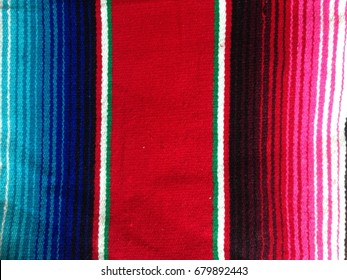 Mexican poncho serape background Mexico with copy space stock, photo, photograph, image, picture