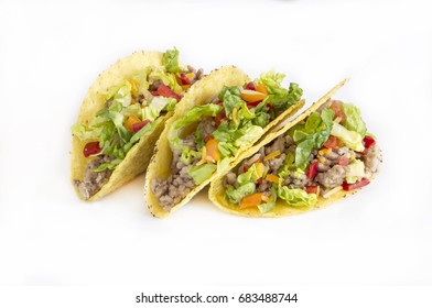 Mexican pork tacos with vegetables.