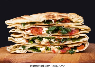 Mexican quesadillas.
