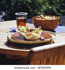 Mexican salad with beef