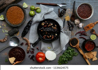 Mexican sauce whit dried chili and spices