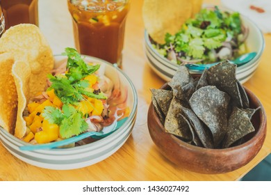 Mexican Seafood Dish; Ceviche and snack