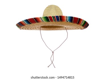 Mexican Sombrero isolated on a white background.