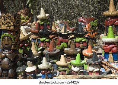 Mexican souvenir hats, Cancun