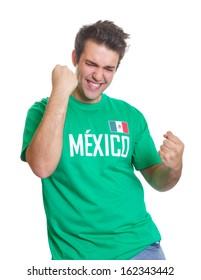 Mexican sports fan freaks out