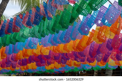 Mexican Street Decorative Papers in Sayulita Town Mexico.
