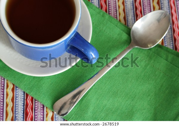 mexican style cup of black coffee