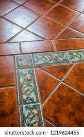Mexican tiles on the floor