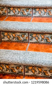 Mexican tiles on the stairs