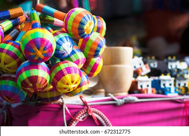 Mexican toys with a pattern