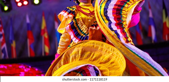 Mexican traditional costume for girl - Shutterstock ID 1171118119