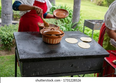 mexican traditional Hand made tortilla and taco catering