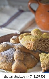 Mexican traditional Pan de Muerto