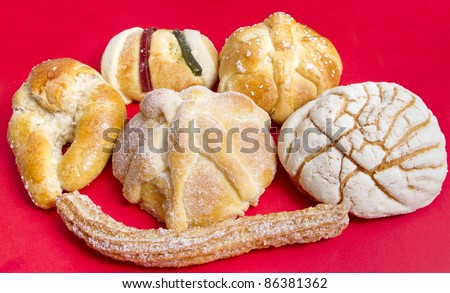 Mexican Traditional Sweet Bread Such Churro Stockfoto Jetzt