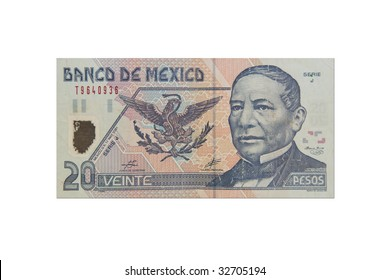 Mexican twenty Peso bill