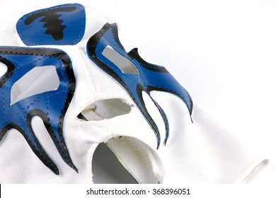 Mexican Wrestling Mask Isolated.