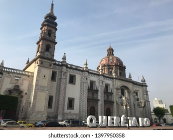 Querétaro, Mexico 04/05/2019.Temple of Santa Rosa de Viterbo.Its walls contain more than 200 years of history and unparalleled works of art. Maximum expression of the baroque of the eighteenth century