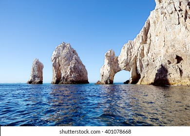 Mexico. The Arch Of Cabo San Lucas. In the southern tip of the  California Peninsula with concentration range of beautiful rocks of unusual shapes. But none of them can match the grandeur of El Arco.