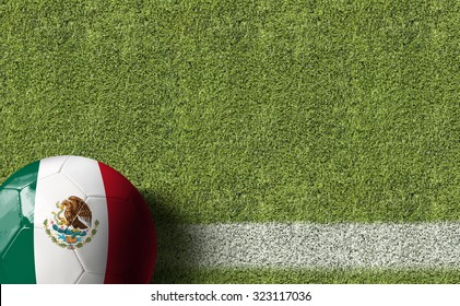 Mexico Ball in a Soccer field