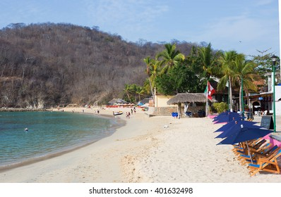 Mexico. The Beach Of Huatulco. Bay Huatulco is a picturesque Paradise with amazing mountains, slopes, valleys and abundant vegetation, beautiful beaches