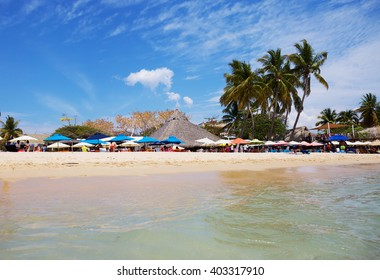 Mexico. The Beaches Of Huatulco. Bay Huatulco is a picturesque Paradise with amazing mountains, slopes, valleys and abundant vegetation, beautiful beaches.